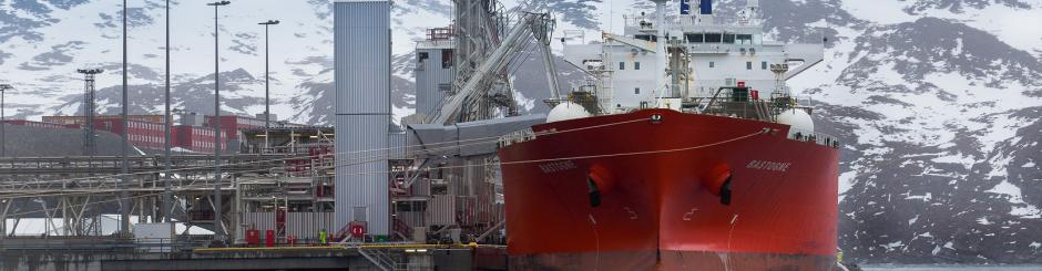 EXMAR LPG Midsize vessel at Hammerfest Norway